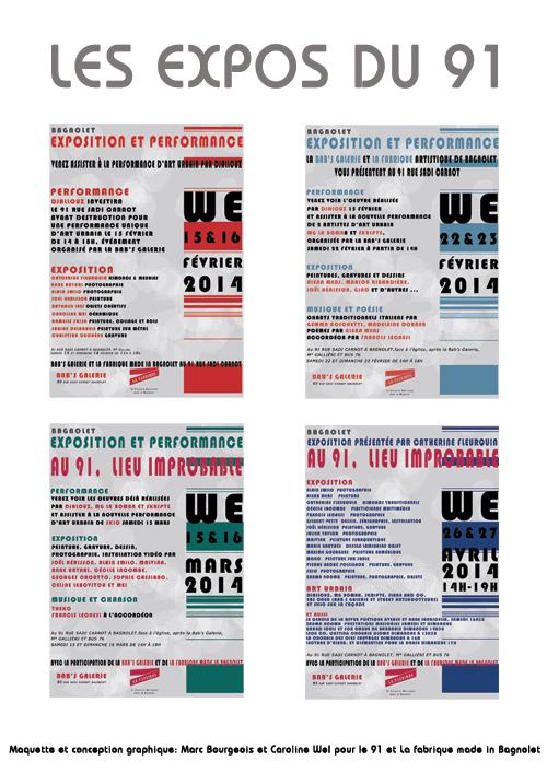 Les exposition organisées par La Fabrique made in Bagnolet au 91 lieu improbable