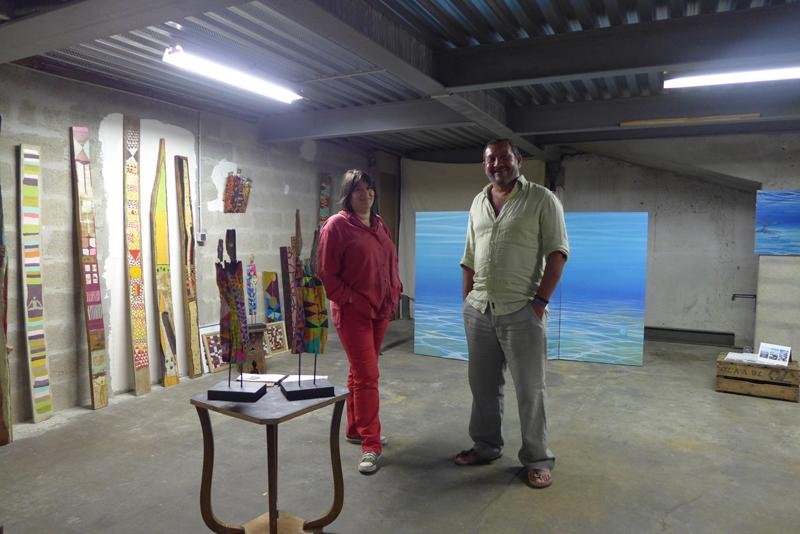 JPO ateliers d'artistes de Bagnolet : Malvina et Hacene Sadoune