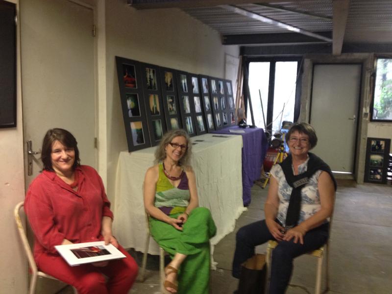 JPO ateliers d'artistes de Bagnolet à La Fabrique : Malvina, Armelle Frisa et Marie-Pascale Deluen