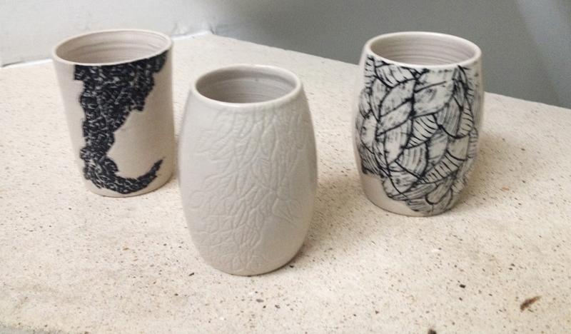 Caroline Wei céramiques tasses à thé incisées