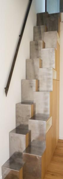 L'Atelier Gérald Bell Sof Architectes : escalier à pas japonais
