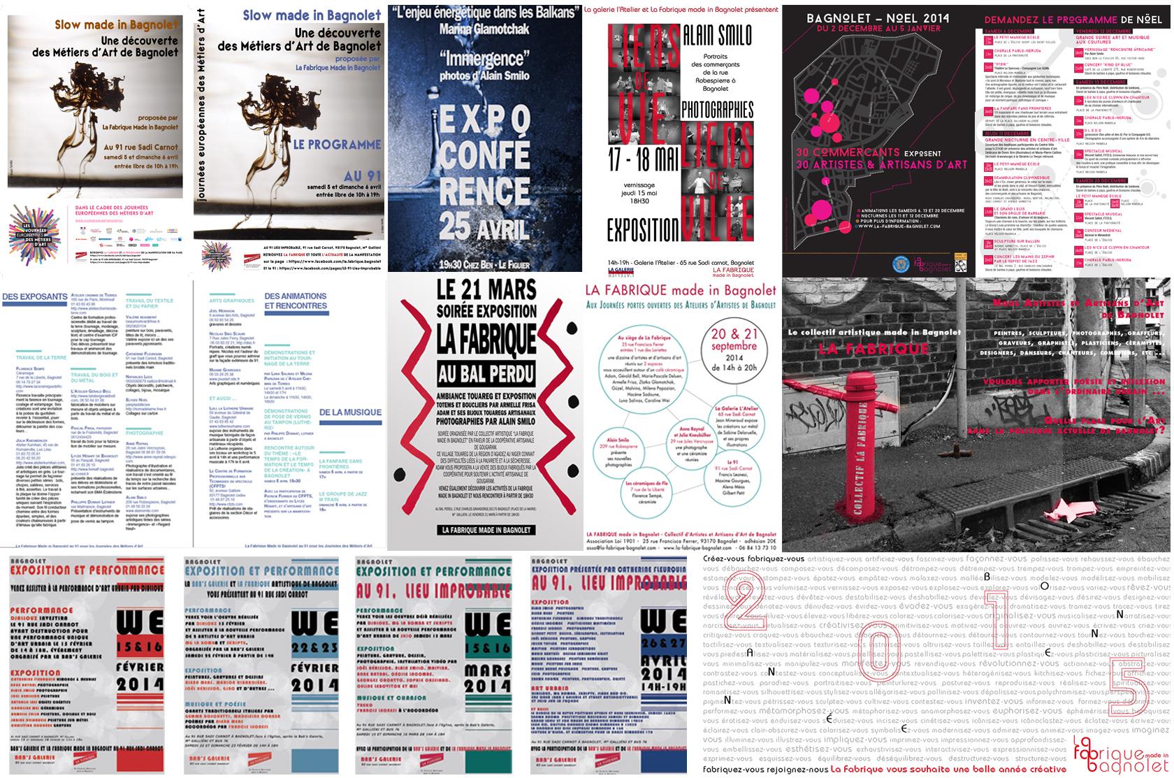 2014 : un an d'événements artistiques avec La Fabrique