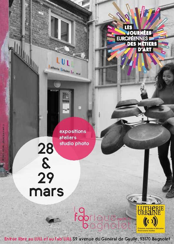 Les Journées des Métiers d'Art à Bagnolet avec la Fabrique et la Lutherie Urbaine