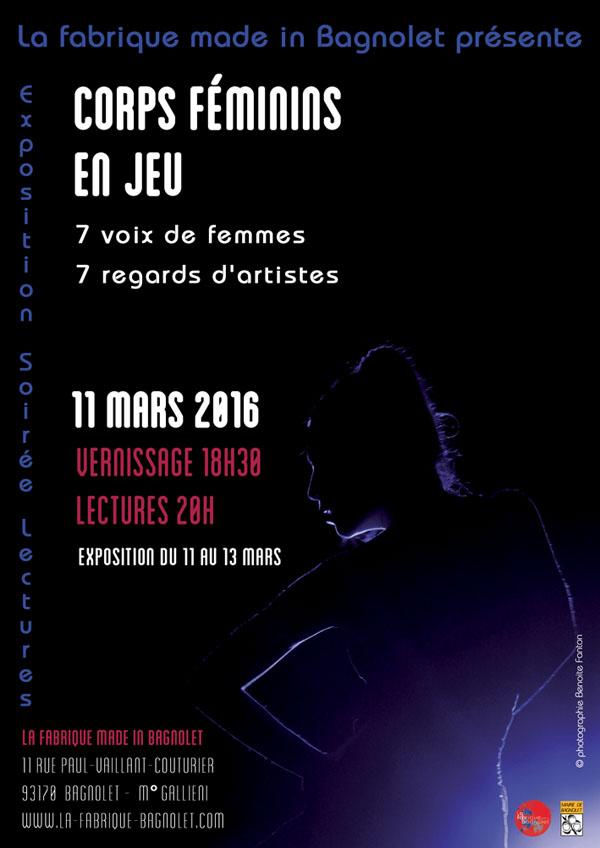 Corps féminins en jeu, 11 mars 2016