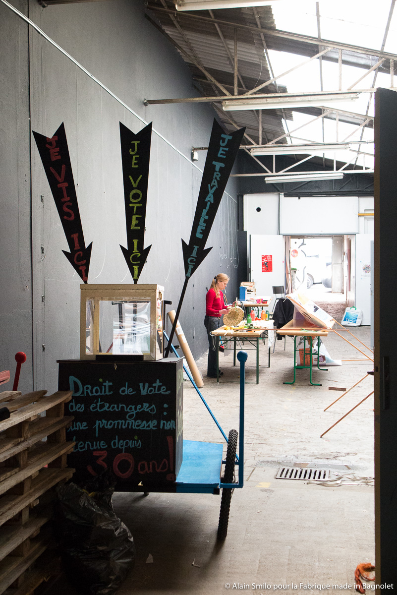 La Fabrique made in Bagnolet - Ateliers de la Grande Parade Métèque - Char de la LDH Bagnolet/les Lilas