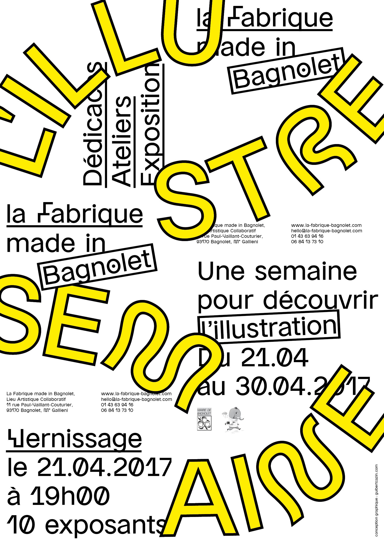 L'ILlustre Semaine: une semaine pour découvrir l'Illustration à LA Fabrique made in Bagnolet