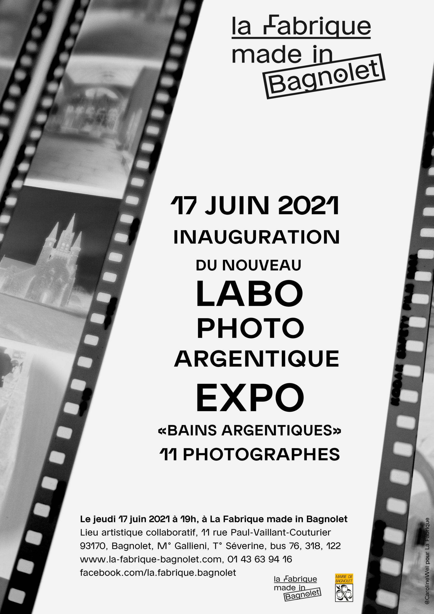 """""""Bains Argentiques"""" Inauguration du nouveau laboratoire argentique et exposition à La Fabrique made in Bagnolet"""